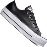 Converse CT All Star Lift Clean Leather Low Damen-Sneaker Black