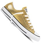 Converse Chuck Taylor All Star OX Damen-Sneaker Gold/Black/White