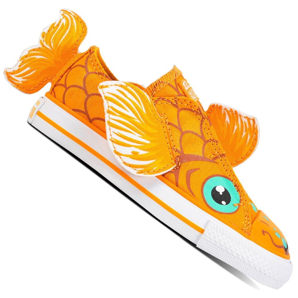 Converse CT All Star Creatures OX Infant Kinder-Schuhe Field Orange