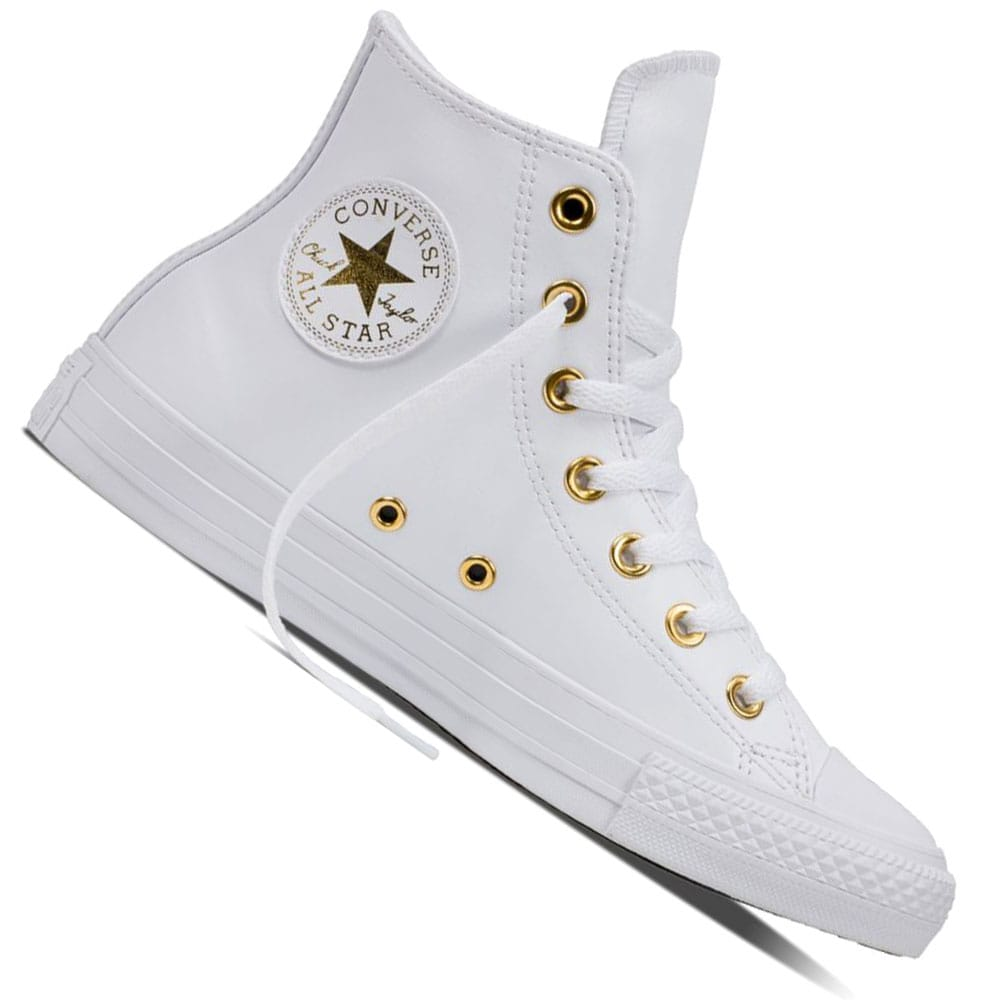 325a9e1c31 Converse Chuck Taylor All Star HI Sneaker White/Gold/White | Fun ...