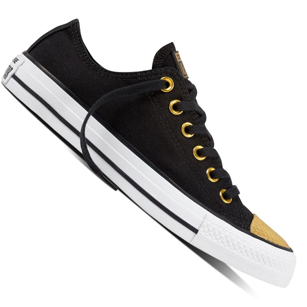 Converse Chuck Taylor All Star OX Damen-Sneaker Black/Gold/Whi 41.5 H7gv7