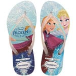 Havaianas Kids Flip Slim Princess Flops White/Disney Frozen