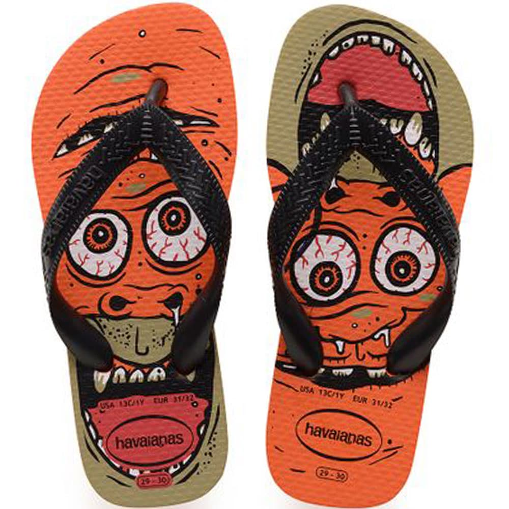 Havaianas Kids Radical Kinder-Schlappen Neon Orange