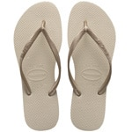 Havaianas Slim Flip Sand Grey/Light Golden Flops