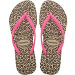 Havaianas Slim Animals Flip Sand Grey/Pink Flops