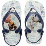 Havaianas Baby Flip Snoopy Flops White/Navy Blue