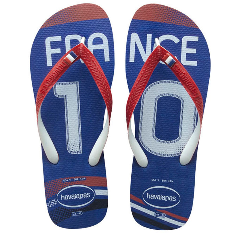 706fdc522c08fb Havaianas Teams II CF France Flip Blue Red Flops