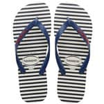 Havaianas Top Nautical Flip White/Navy Blue Flops