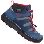 Keen Hikeport Mid WP Youth Kinder-Schuhe Dress Blues/Firey Red