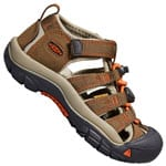 Keen Children Newport H2 Kinder-Sandalen Dark Earth/Spicy Orange