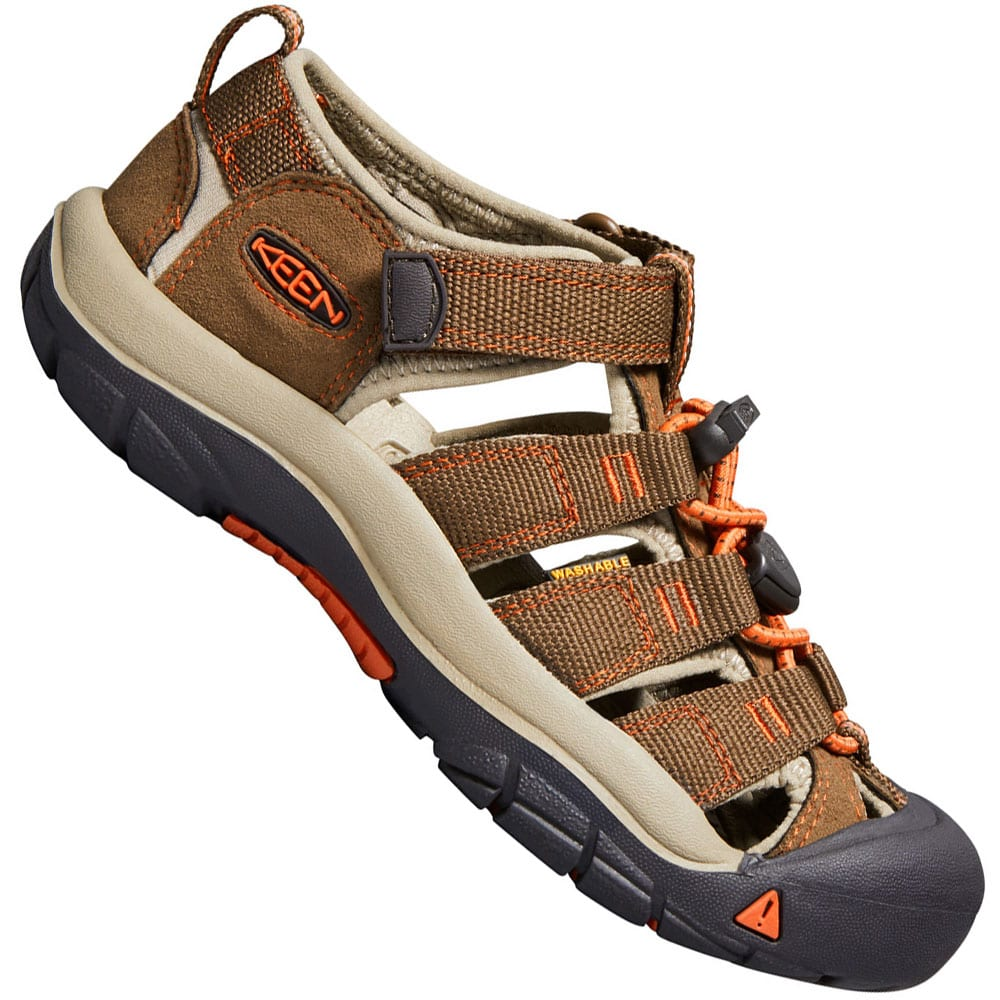 71c56aebeb9f2 Keen Youth Newport H2 Kinder-Sandalen Dark Earth Spicy Orange