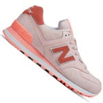 New Balance Damen-Sneaker Sunrise Glow/White