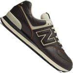 New Balance 574 Leather Herren-Sneaker Black