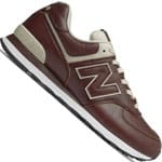New Balance 574 Leather Herren-Sneaker Alabaster/Bordeaux