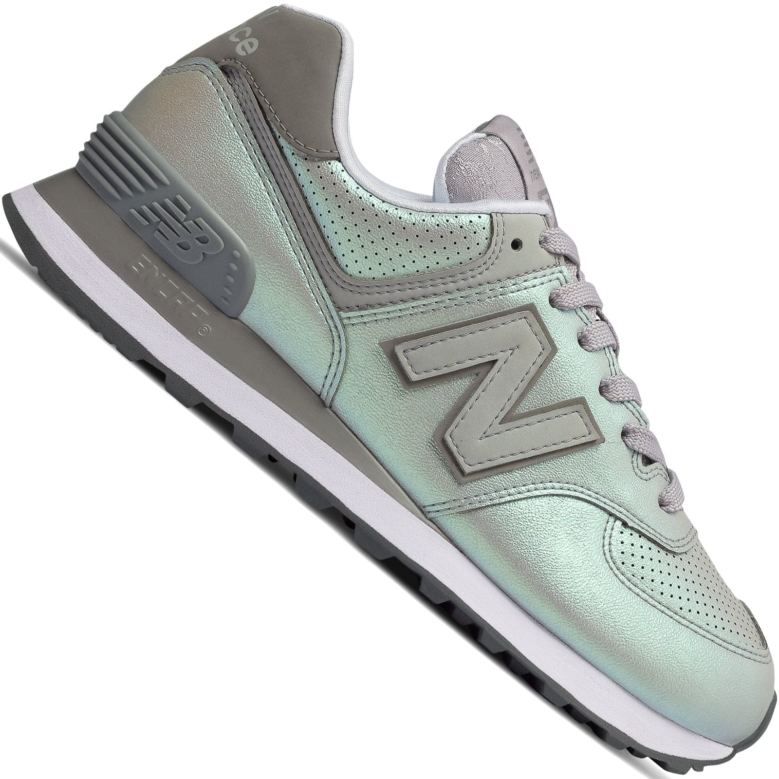 New Balance 574 Sheen Pack Damen-Sneaker Rain Cloud