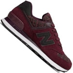 New Balance 574 Damen-Sneaker Bordeaux/Gunmetal