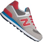 New Balance WL574MON Damen-Sneaker Gray/Red/Blue