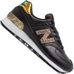 New Balance 574 Damen-Sneaker Black/Metallic Gold