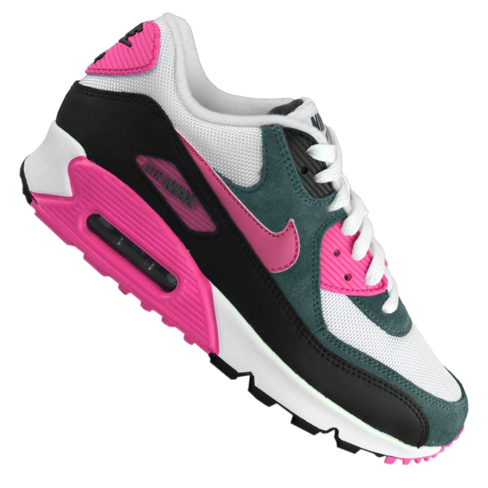 new arrival 08735 e596b Nike Air Max 90 Essential WMS Damen Sneaker 616730 100 (white pink)