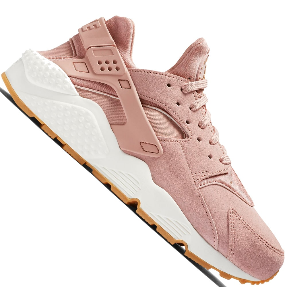 Nike Air Huarache Run Damen,Sneaker Particle Pink/Mushroom