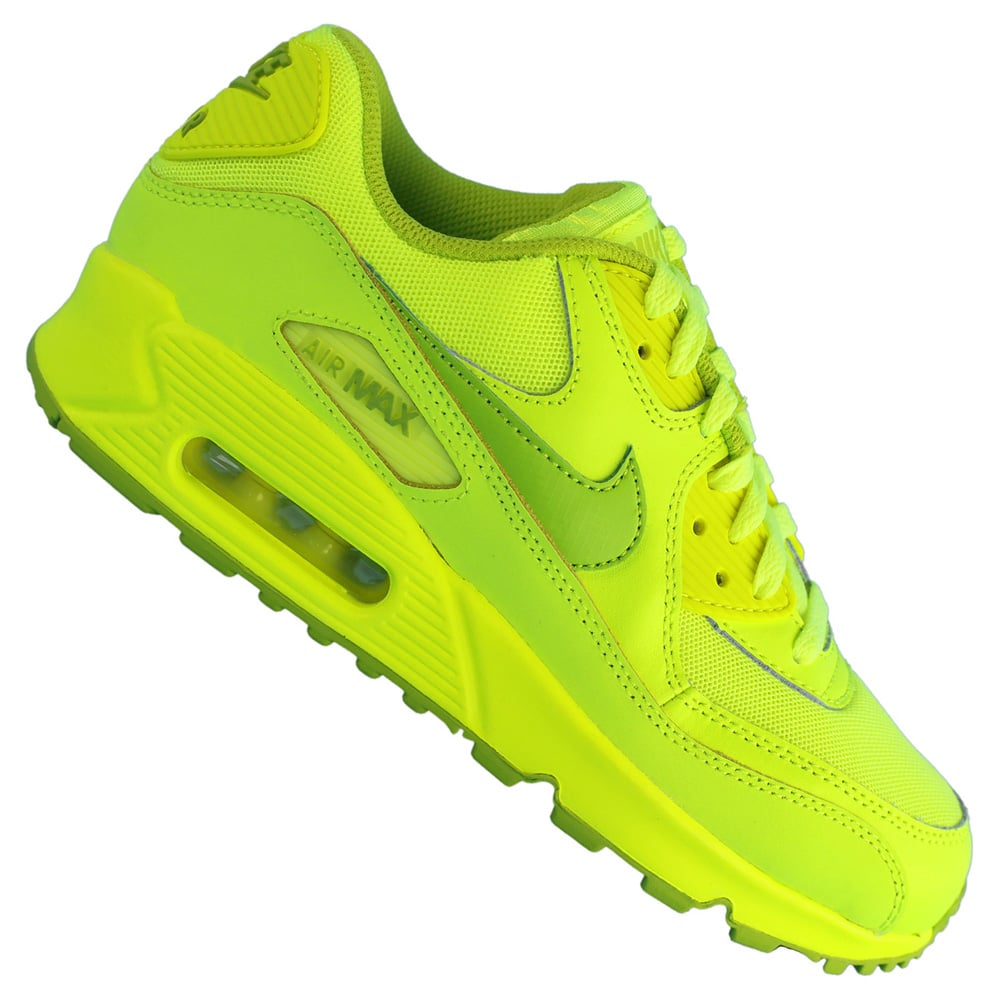 outlet store 92f36 76f1a Nike Air Max 90 GS 307793 700 (Volt Fierce Green)