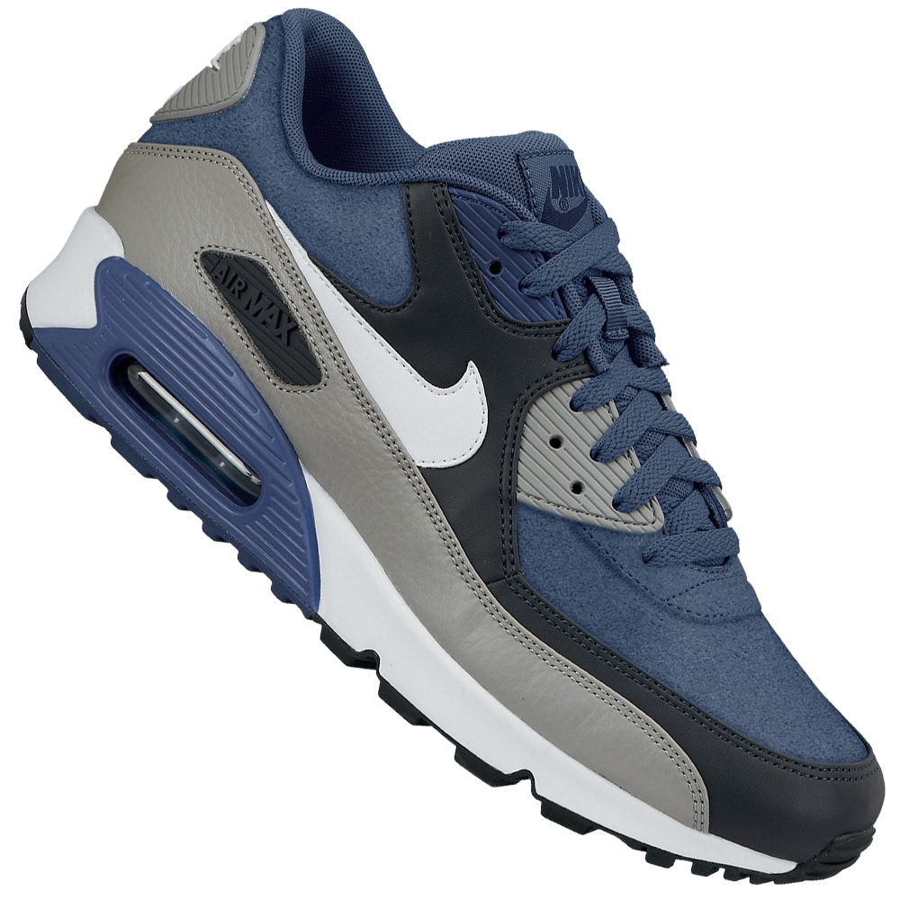 buy popular 58b97 63b5b Nike Air Max 90 LTR 652980 401 (New Slate White-Grey-Blue)