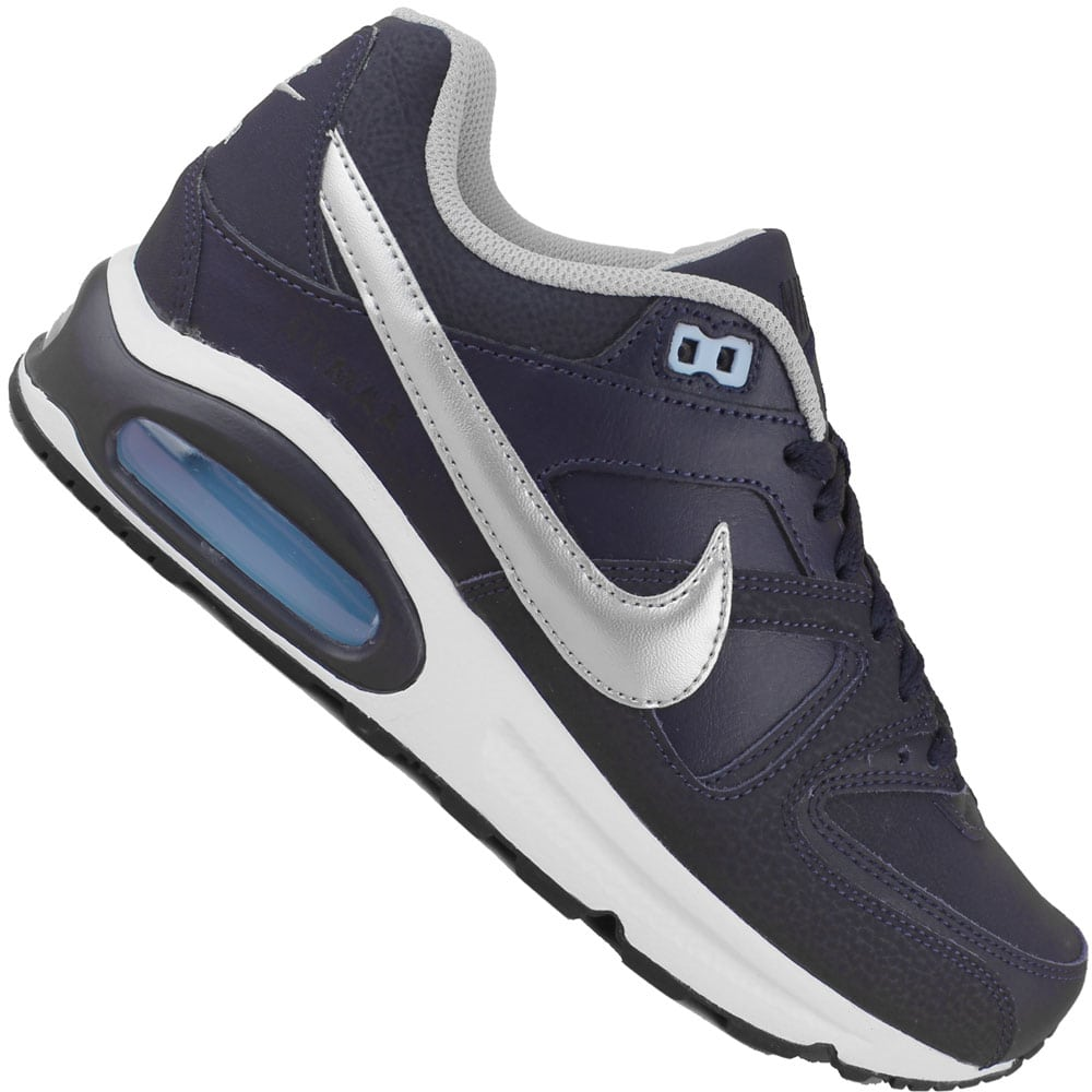 half off 3f6ef ead40 Nike Air Max Command Leather Herren-Sneaker Obsidian Silver