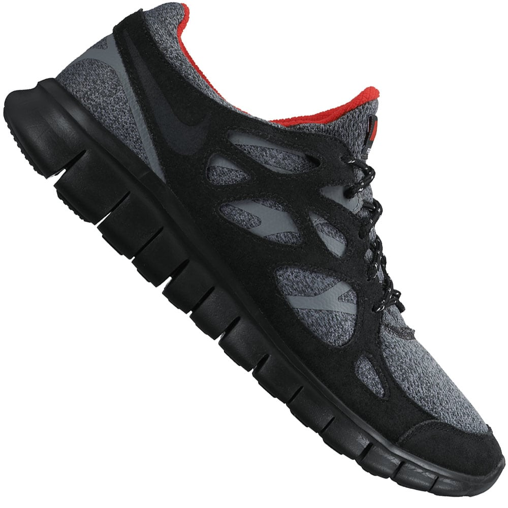 Nike Free Run 2 Herren-Laufschuhe Black/Grey/Red | Fun-Sport-Vision