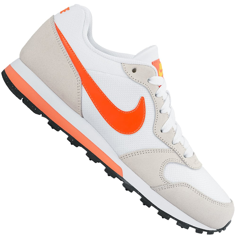 nike wmns md runner damen sneaker white crimson fun sport vision. Black Bedroom Furniture Sets. Home Design Ideas