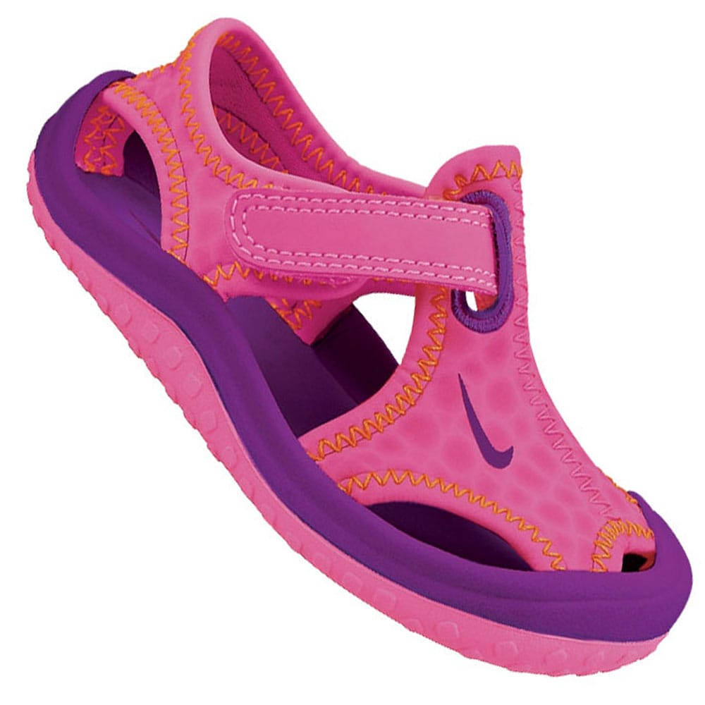 Nike Sunray Protect TD Kinder-Sandale 344993 603 Pink Pow/Bold Berry