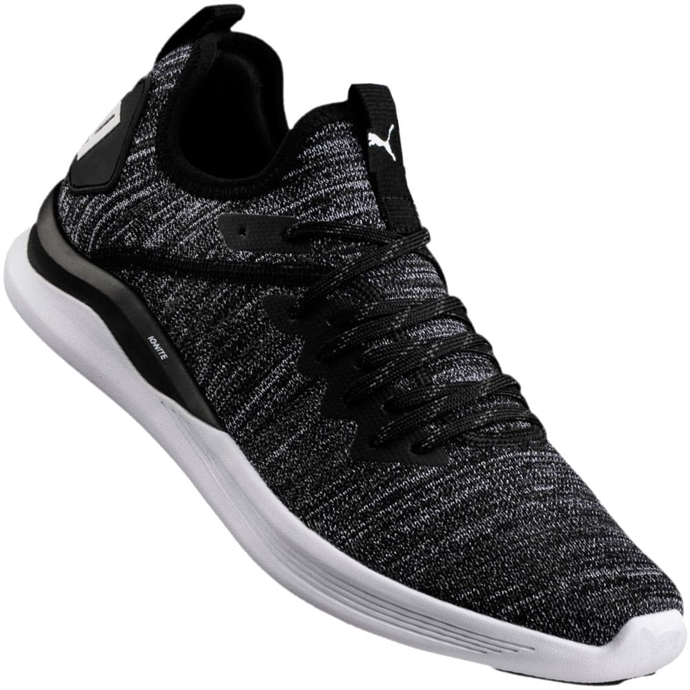 PUMA IGNITE Flash evoKNIT Herren Sneaker Black Asphalt White
