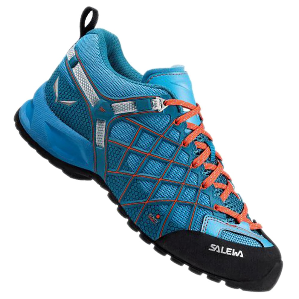 Salewa Wildfire Vent Approach Shoes Women river blue/clementine 38 2017 Trekking- & Wanderschuhe lNI3z