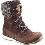 Salomon Hime Mid Leather Damen-Winterschuhe Dark Brown