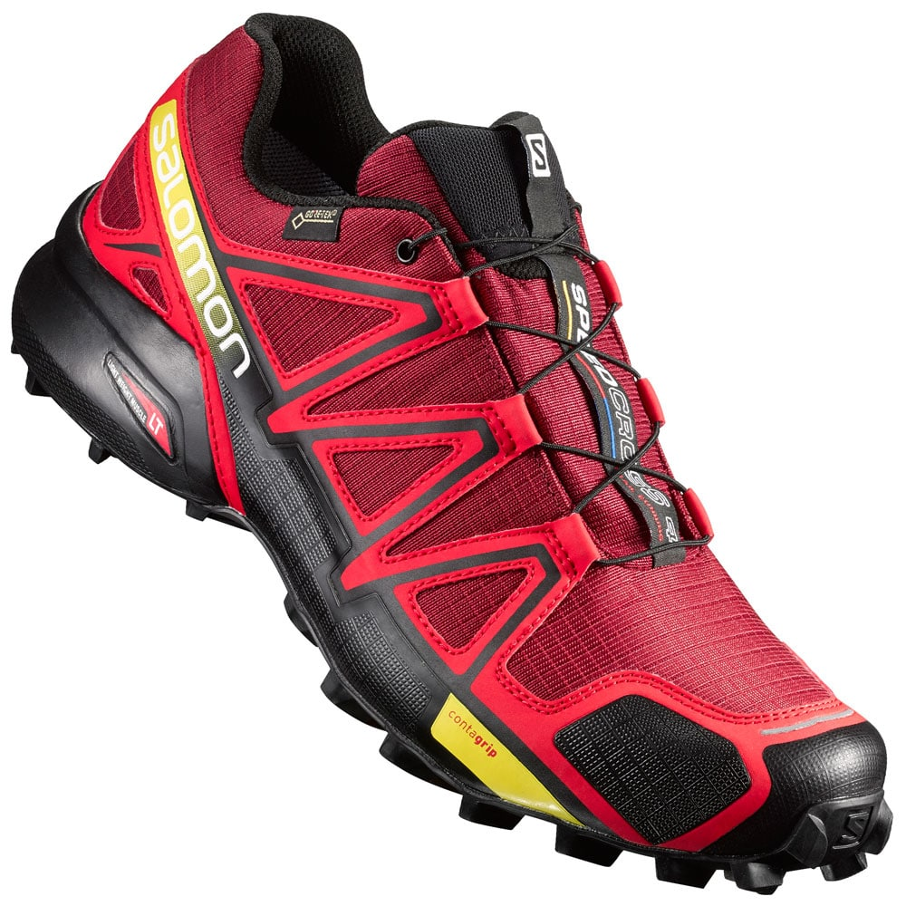 Salomon Red And Black Shoes