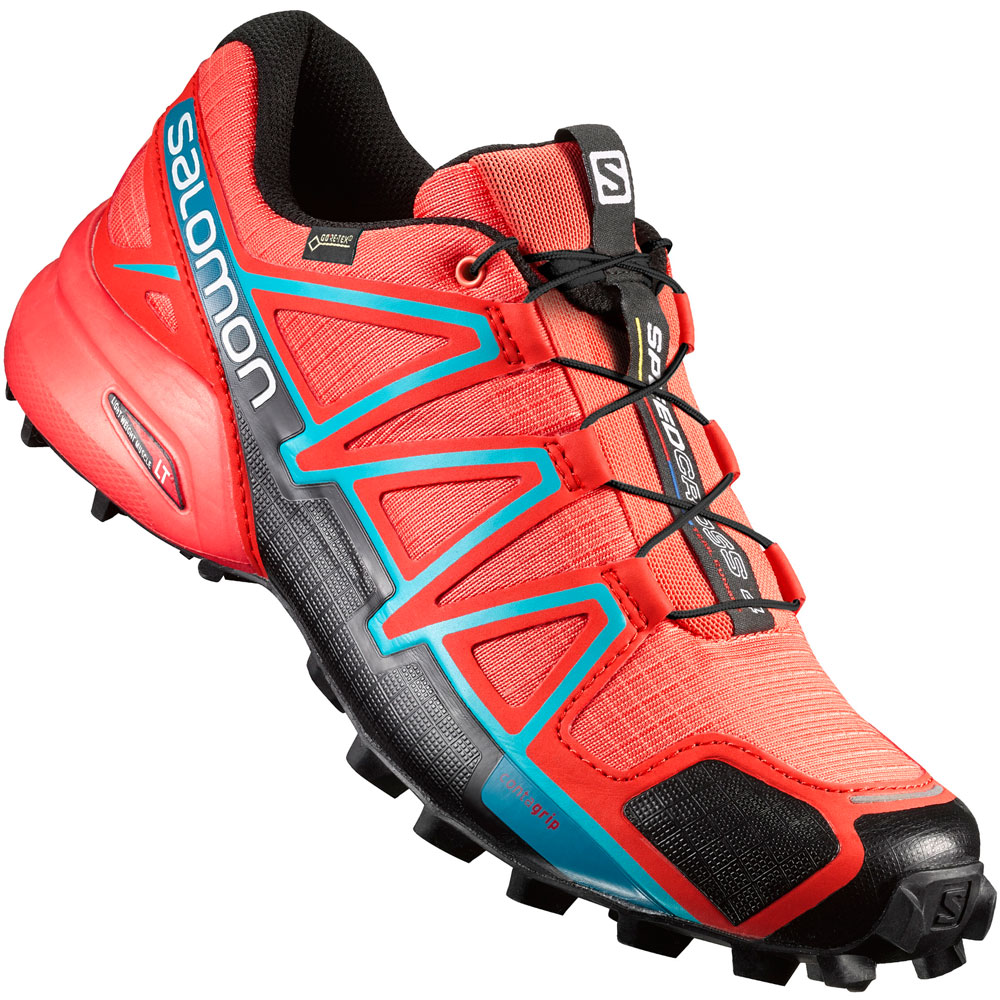 Salomon Speedcross 4 W GTX Damen-Laufschuhe Coral Punch ...