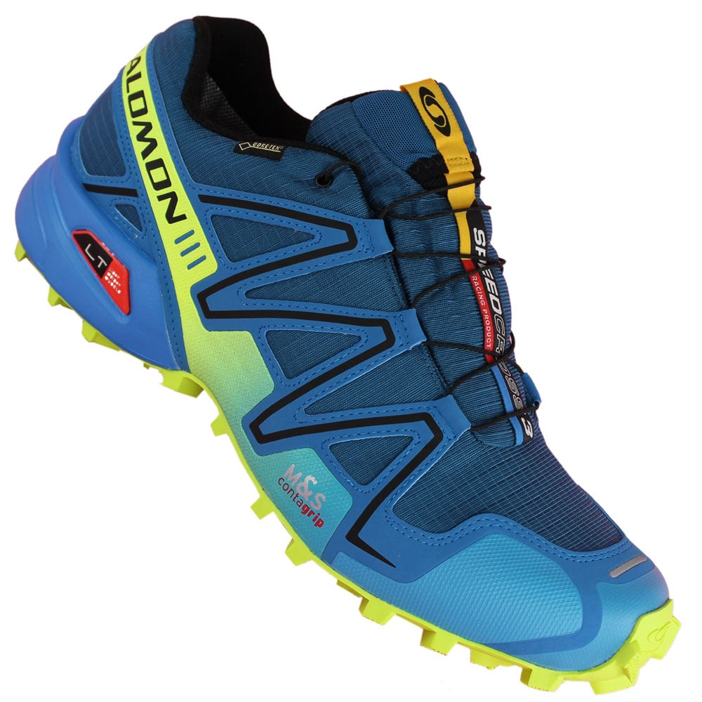 salomon speedcross 3 gtx 356753 blue yellow fun sport vision. Black Bedroom Furniture Sets. Home Design Ideas