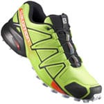 Salomon Speedcross 4 Herren-Laufschuhe Lime Green/Black/Scarlet