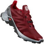 Salomon Supercross Laufschuhe Red Dahlia