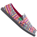 Sanuk Sidewalk Surfer Donna Tribal  - Magenta /Multi Tribal Str