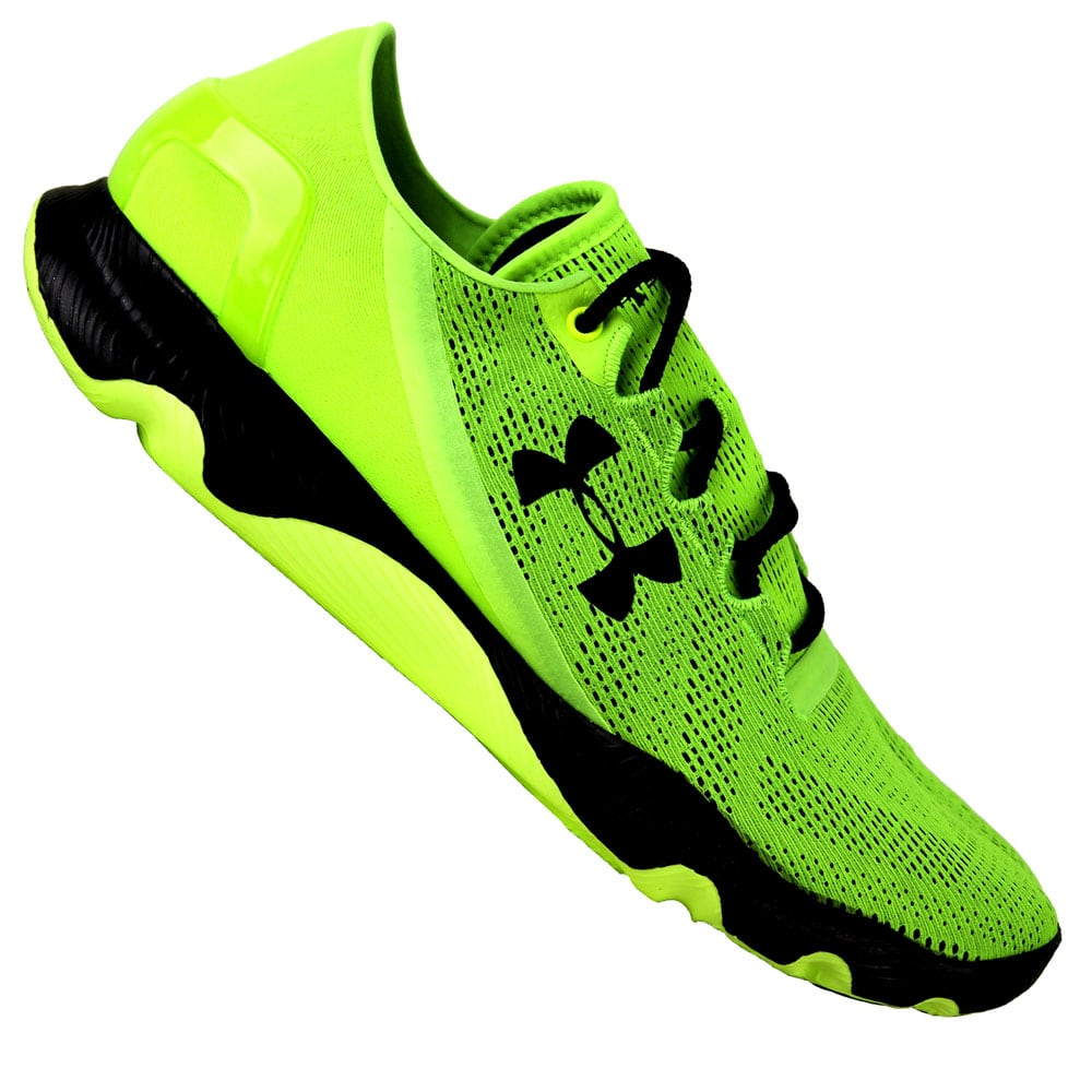 992eadfc578c6d Under Armour Speedform Apollo Vent Herren-Laufschuhe Acid Green Black