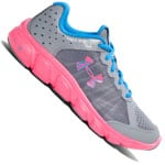 Under Armour GGS Micro G Assert 6 Damen-Laufschuhe Steel/Pink