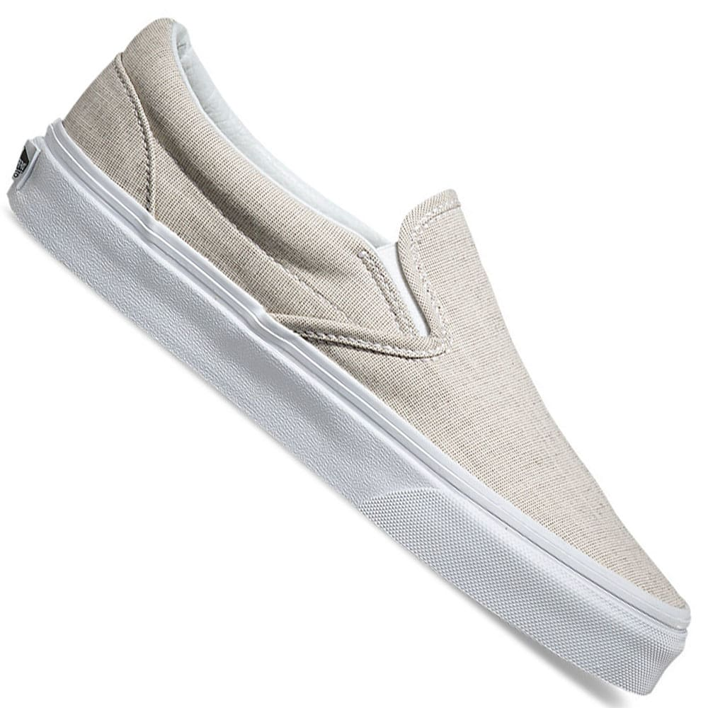 vans classic slip on damen sneaker chambray gray white online kaufen. Black Bedroom Furniture Sets. Home Design Ideas