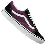 Vans Comfycush Old Skool Sneaker Black Prune True White
