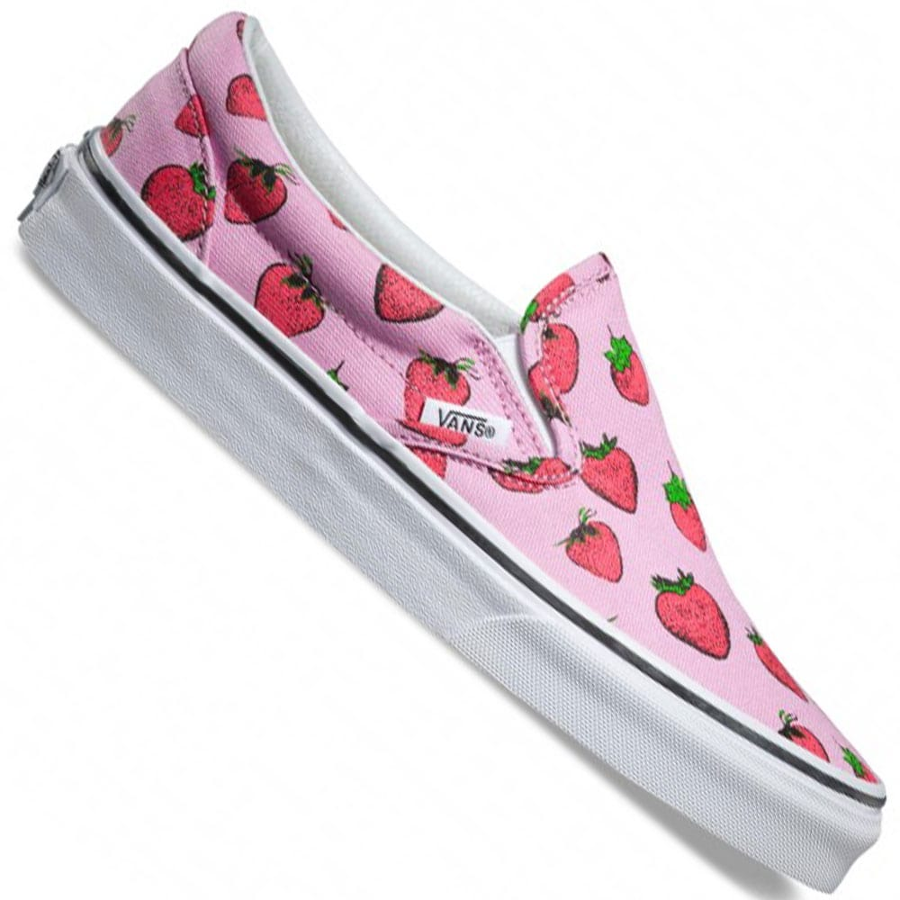 Vans Classic Slip On Damen-Sneaker Strawberries Pastel Lavender ...