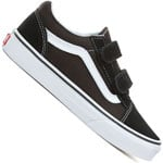 Vans Youth Old Skool V Sneaker Black/True White