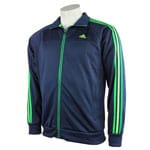 Adidas ESS 3S Track Jacket G83133 (Collegiate Navy/Ray Green)