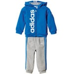 adidas Performance Full Zip Hoodie Jogger Blue/White
