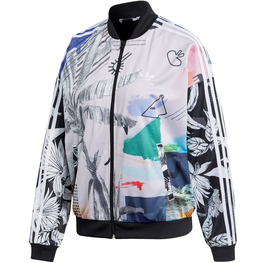 adidas Originals Oversized Track Top Damen-Sportjacke Multicolor