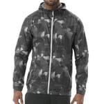 asics fuzeX Packable Jacket Herren Laufjacke - Paint Geo Dark Grey