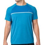 asics Performance SS Top Herren-Laufshirt Race Blue